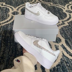 Blinged out Nike Air Force 1 CUSTOM